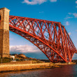 Stock Photo: Forth Rail bridge long View