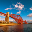 Stock Photo: Long shot of Forth Bridge in Scotland