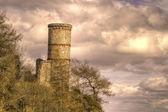 Slottet på en klippvägg — Stockfoto