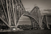 Dramatic Shot of the Forth Bridge — Stock Photo