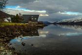 Beautiful Sunset at Scottish Loch — Zdjęcie stockowe