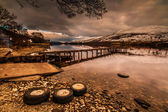 Evening Scottish Loch — Stock Photo