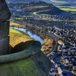 Vibrant shot of Stirling from wallace monument — Stock Photo #40786659