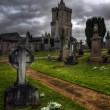 Shot of Eerie old Graveyard in Stirling Scotland — Stock Photo #40788599