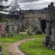 Pathway inside spooky Graveyard — Stock Photo #40789335