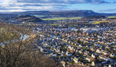 Stirling from Wallace Monument — Stockfoto