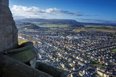 Stirling from Wallace Monument in Scotland — Foto de Stock