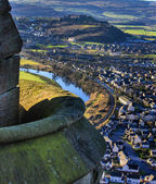 Vibrant shot of Stirling from the wallace monument — Foto Stock