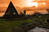 Eerie Graveyard in Stirling Scotland — Stockfoto
