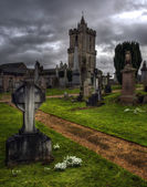 Shot of an Eerie old Graveyard in Stirling Scotland — Stock Photo