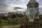 Stirling Castle from ancient Graveyard — Stock Photo