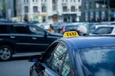 Taxi on the road — Stock Photo
