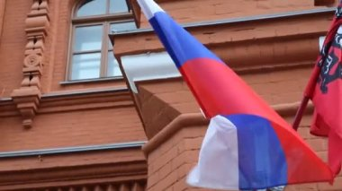Russian flag — Stock Video