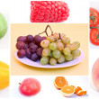 Stock Photo: Collage of fresh fruits and vegetables