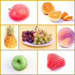 Fruit Food Collage — Stock Photo