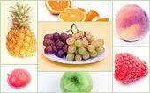 Fruit Food Collage — Stock Photo