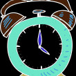 Drawing blue clock — Stock Photo