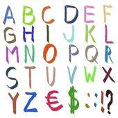 Färgade alfabetet — Stockfoto