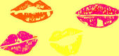 Llustration of women lips — Stock Photo