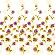 Stock Photo: Vivid repeating floral