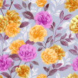 Vivid repeating floral pattern - Stock Photo
