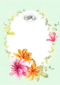 Watercolor floral collection — Stock Photo