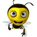 Cartoon honey bee — Stock Photo