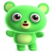 Green bear — Stock Photo