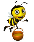 Cartoon honey bee — Stock Photo