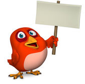 Cartoon bird holding blank — Stock Photo