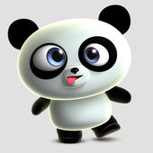 Crazy panda — Stock Photo