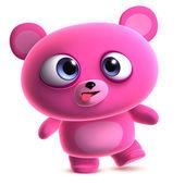 Crazy pink bear — Stock Photo