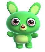 Green bunny — Foto Stock