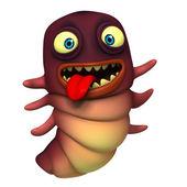 Roztomilý červ — Stock fotografie