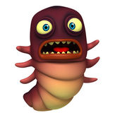 Red worm — Stock Photo