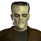 Cartoon green Frankenstein — Stock Photo