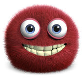 Red hairy ball — Stock Photo