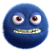 Blue cute monster — Stock Photo