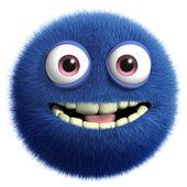 Lindo monstruo azul — Foto de Stock