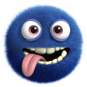 Blue cute monster — Stock Photo