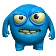Halloween blue monster - Stockfoto