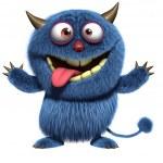 ������, ������: Blue furry alien