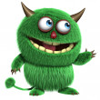 Cute furry alien — Stockfoto