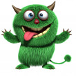 Cute furry alien — Stock Photo #13303522