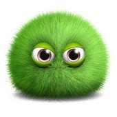 Green furry alien — Stock Photo
