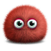 Cute red bacterium — Stock Photo