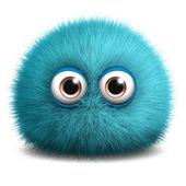 Furry blue monster — Stock Photo