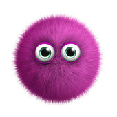 Furry pink monster — Stockfoto
