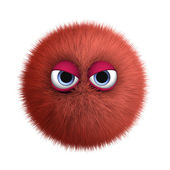 Red furry bug — Stock Photo