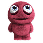 Cute red alien — Stock Photo